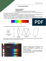 La Spectrophotométrie