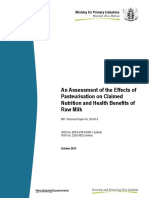 2014 13 Assessment of Effects of Pasteurisation on Claimed Nutrition and Health Benefits of Raw Milk