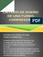 Criterio de Diseño Turbocompresores