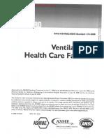 AHRI 170 - Ventilation of Health Care Facilities