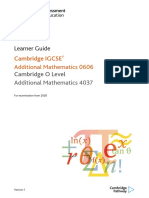 478313 Learner Guide for Cambridge Igcse Additional Mathematics 0606