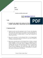 Resume of Ankur Acharya