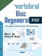 Intervertebral Disc Degeneration Prevalence, Risk Factors and Treatments Masud