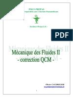 2011 Mécanique Des Fluides Correction QCM II