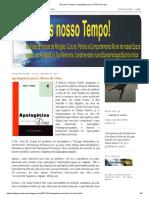 Resenha 'Apologética Para a Glória de Deus' Por Gaspar de Souza