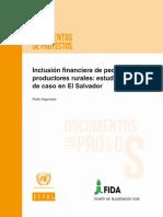 Inclusión Financiera de Pequeños Productores Rurales -Estudio de Caso en El Salvador