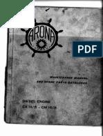 Arona CA 10B - CM 10B_Maintenance Manual and Spare Parts Catalogue - Part I
