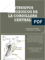 Intrusivos mesozoicos de la cordillera central