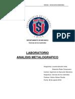 Informe metalografia uls