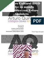 Víctor Vargas Irausquín - El Centro Cultural BOD Vuelve Su Mundo Geométrico Con Arturo Quintero