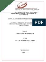 MONOGRAFIA DE CONTABILIDAD DE  CAJAS MUNICIPALES  Y CAJAS RURALES DE AHORRO  Y  CRÉDITO