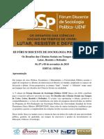 Edital Geral III Fórum Discente PPGSP UENF 2018