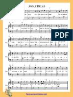 Jingle Bells C Major Easy Piano Higher