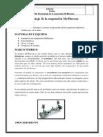 Informe Desmontaje de La Suspension McPherson