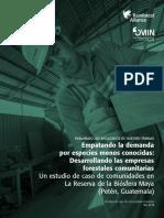 Empatando La Demanda Por Especies Menos Conocidas- Desarrollando Las Empresas Forestales Comunitarias - R Alliance