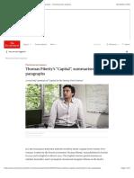 "Thomas Piketty's ""Capital"", Summarised in Four Paragraphs - The Economist Explains"