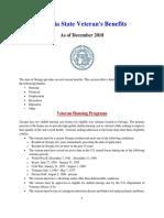 Vet State Benefits - GA 2018