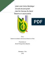 Gestion de Calidad en Salud en El Peru