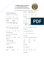 Ecuacion de Primer Grado Amautas
