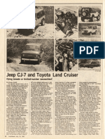 Jeep CJ-7 and Toyota Land Cruiser Review