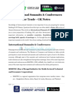 International Summits Conferences for Trade1