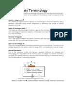 Basic Battery Terminology