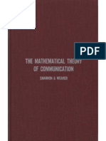 THE MATHEMATICAL THEORY OF COMMUNICATION. Shannon y Weaver..pdf