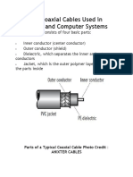 Basics of Coaxial Cables Used in Electronic and Computer Systems