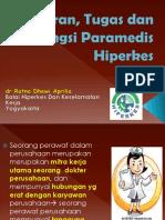 Peran, Tugas dan Fungsi Paramedis Hiperkes dr.Ratna.ppt