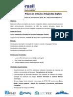 Introdução a Projeto de Circuitos Integrados Digitais