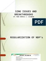 Nursing Issues and Breakthroughs 2