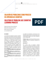 Solucion de Problemas Como Proceso de Aprendizaje Cognitivo