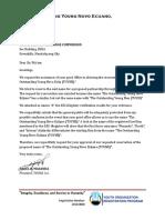 Sample SEC Letter