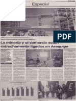 La minería y el comercio están estrechamente ligados en Arequipa