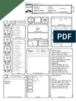 Eamon Character Sheet
