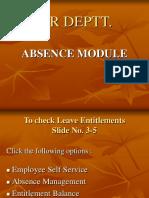 Absence & attendance module