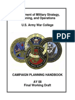 Military Strategy, Planning and Operations