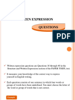 WRITTEN EXPRESSION (SKILL 11-25).ppt