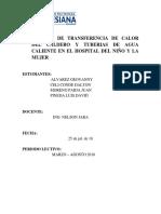 Analisis de Transferencia de Calor Del Caldero y Tuberias de Agua Caliente