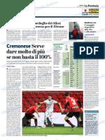 La Provincia Di Cremona 16-12-2018 - Serie B