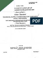 Is 1367 Part 6 - 1994 Mechanical Properties & Test Methods