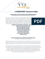 Caring for Caregivers Resource Guide 1