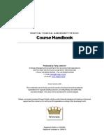 FM1 Course Handbook Dec 2009 [Main Text]