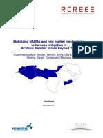 Mobilizing NAMAs in RCREEE Member States