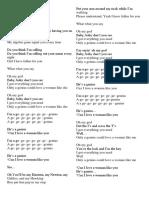 Lyrics Popular Song 2018 Part II