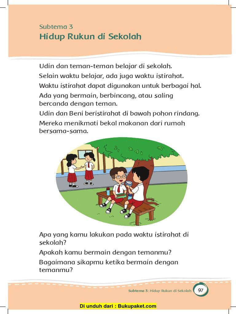 Subtema 3 Hidup Rukun Di Sekolah