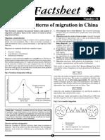 china geo factsheet 51 patterns of migration