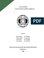 Tugas Paper Manajemen Operasi