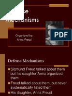 Defense Mechanisms Organized By Anna Freud Defence Mechanisms Id
