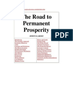 17659926 the Road to Permanent Prosperity by Dewey B Larson